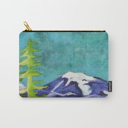 Rocky Mountain Winter Landscape Carry-All Pouch