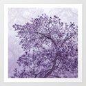 Beautiful Pine Tree Silhouette Purple Color #decor #society6 #buyart by pivivikstrm