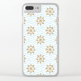 Wheels and waves Clear iPhone Case