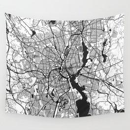 Providence Map Gray Wall Tapestry