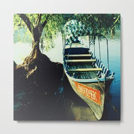 Boat, Color Film Photo, Analog Metal Print
