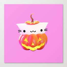 Pumpkin Cat Canvas Print