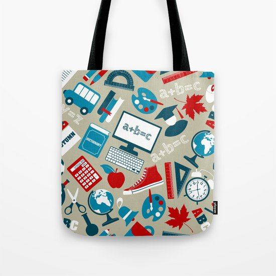 Back To School - Collage Tote Bag