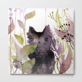 Adder in the Garden Metal Print
