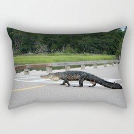 Alligator Right Of Way Rectangular Pillow
