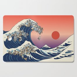 The Great Wave of English Bulldog Cutting Board