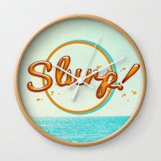 Summer Slurp! Wall Clock