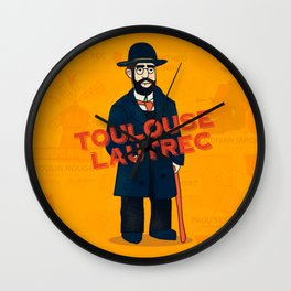 Toulouse-Lautrec Wall Clock