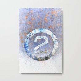 Bold Number 2 Metal Print