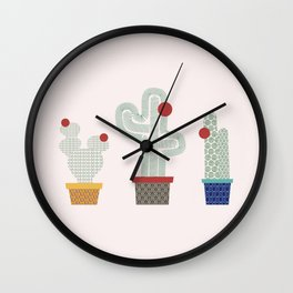 We are 3 cactus! Wall Clock