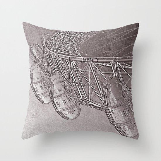 Embossed London Eye Throw Pillow