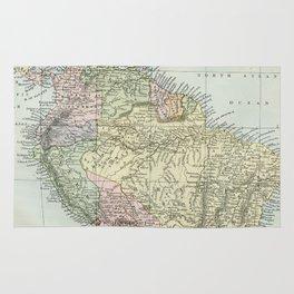 South America Vintage Map Rug
