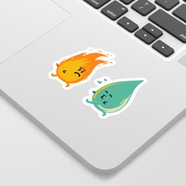 Impossible Love (fire and water kiss) Sticker