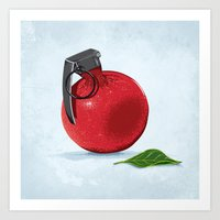 pomegranate Art Prints featuring Pomegranate by Robert Richter – Artist & Illustrator