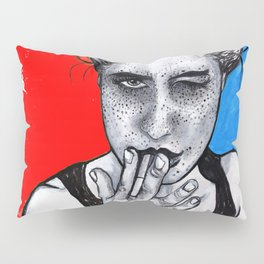 The Wink Red and Blue Pillow Sham