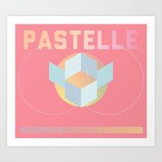 PASTELLE VIBES Art Print