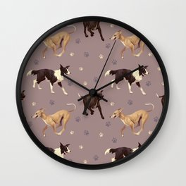 Rescue Dogs Pattern Wall Clock