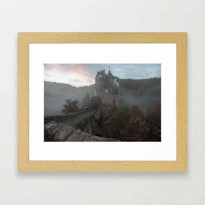 Morning light at Castle Eltz Germany Framed Art Print