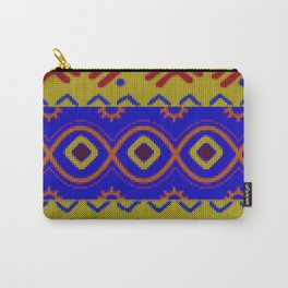 Ethnic African Knitted style design Carry-All Pouch