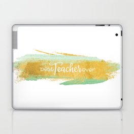 Best Teacher Ever | Gold and Mint Watercolor Laptop & iPad Skin