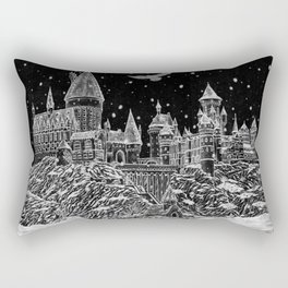 Holiday at Hogwart Rectangular Pillow