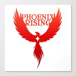 PHOENIX RISING red with star center Canvas Print