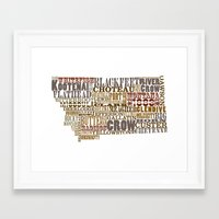 montana Framed Art Prints featuring Montana by Madison Apple