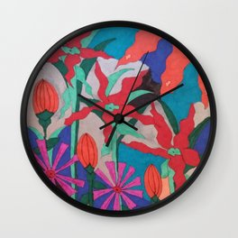 Bold Garden Night Party Wall Clock