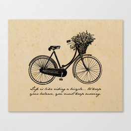 Albert Einstein - Life is Like Riding a Bicycle Canvas Print