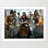 assassins creed Art Prints featuring Assassins Creed by Tom Lee