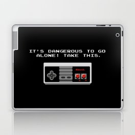 Its dangerous to go alone take this video game Laptop & iPad Skin