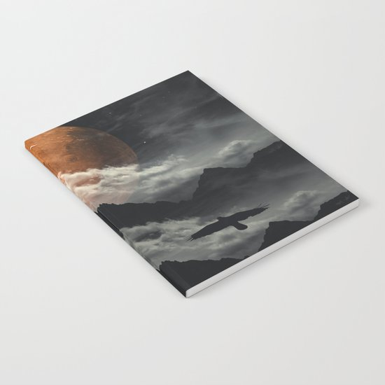 Spaces III - Mars above mountains Notebook