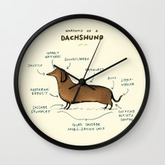 Anatomy of a Dachshund Wall Clock