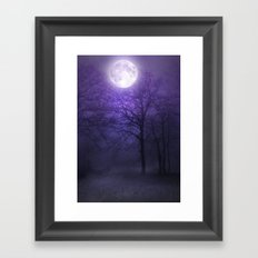 lonely moon Framed Art Print
