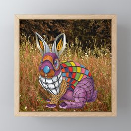 Steampunk Bunny Rabbit Framed Mini Art Print