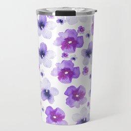 Modern purple lavender watercolor floral pattern Travel Mug