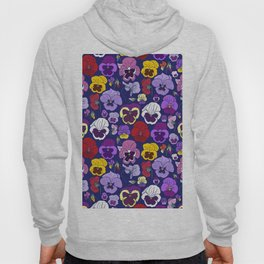 Pansy Flowers Spring Illustration Hoody