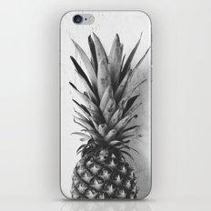 Black and white pineapple iPhone & iPod Skin