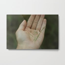 spider in hand Metal Print