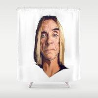iggy Shower Curtains featuring Mr. Iggy Pop by Viktor Miller Gausa
