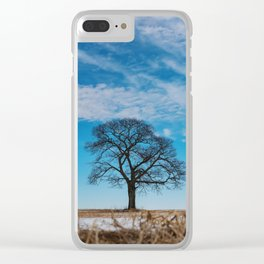 Blue Above Clear iPhone Case