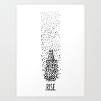 catwoman Art Prints featuring Catwoman by justjeff