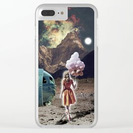 Girl with Balloons Clear iPhone Case