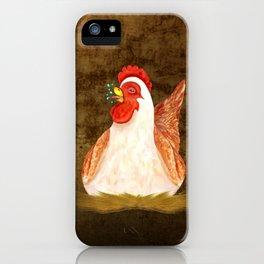 Chickens Joking Around iPhone Case