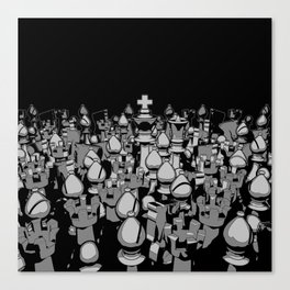 The Chess Crowd Canvas Print