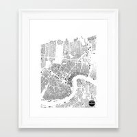 new orleans Framed Art Prints featuring NEW ORLEANS by Maps Factory
