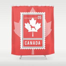 CANADA WEIM STAMP Shower Curtain