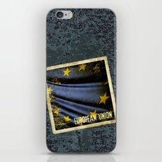 Grunge sticker of European Union flag iPhone & iPod Skin