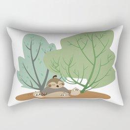 Spring Desert Quail Rectangular Pillow