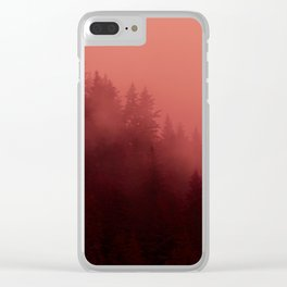 0366 Chocolate Forest with Living_Coral Fog, AK Clear iPhone Case